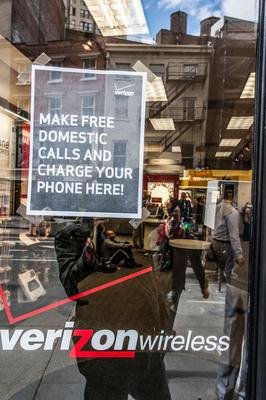 Verizon Wireless Store at Union Square.  (PRNewsFoto/Verizon Wireless)
