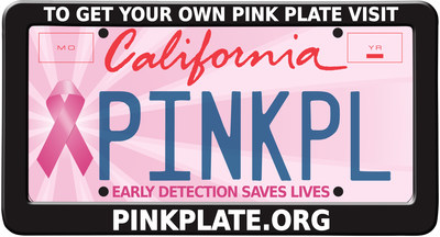 "Orders are now being taken for California's ""Pink Plate."" Funds are dedicated to a state program that provides screenings for the early detection of breast cancer. Order at: pinkplate.org"