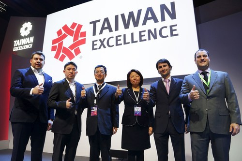 Executives from TAITRA and Taiwan brands (ACER, Asus, D- Link, ZyXEL) at Taiwan Products Launch Press Conference at Mobile World Congress. Today, Monday, 22nd of February. (PRNewsFoto/Taiwan Excellence) (PRNewsFoto/Taiwan Excellence)