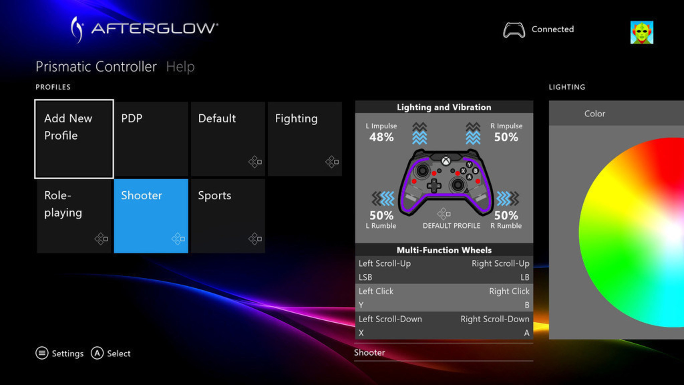 Pdp S Free Afterglow Prismatic Controller Configuration App For Xbox One Gives Gamers The Power To Create Unique Controller Profiles For Any Game