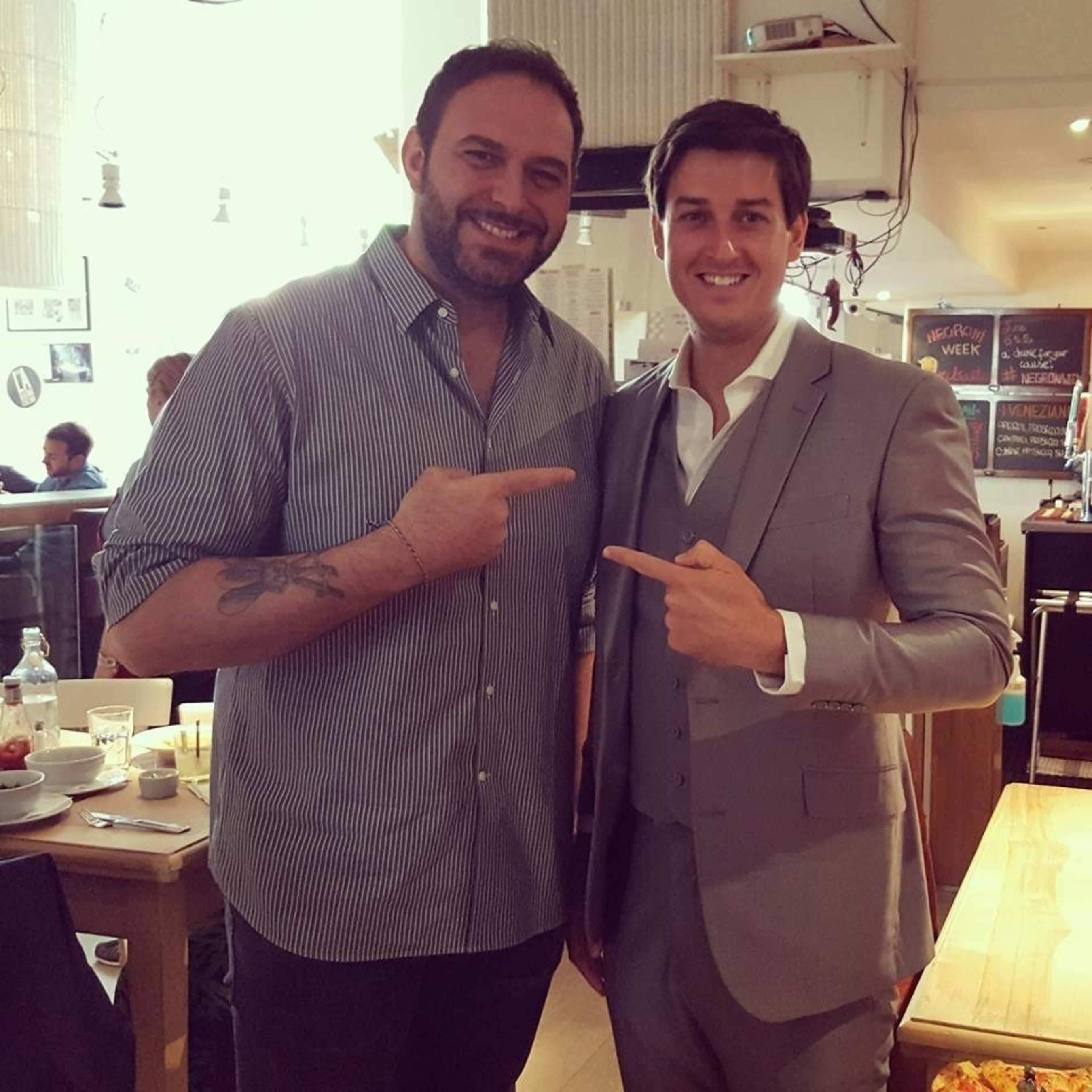 BeeHex, Inc. Chief Marketing Officer Jordan French with Ribalta Chef Pasquale Cozzolino