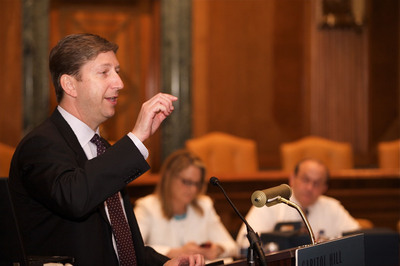 Jeff Margolis, executive chairman of Welltok, and author of The Healthcare Cure, suggests that the power of social networking, systematically applied, can turn the tide of America's unhealthy behavior. Margolis is shown here addressing a Capitol Hill legislative briefing on healthcare information technology.