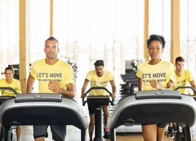 Technogym Let's Move for a Better World Social Campaign. From 1st-19th March 2016, a fitness event for a fun way to get fit and meet people who want to get moving, while doing good for others' (PRNewsFoto/Technogym)