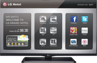 """""""LG's new premium commercial-grade LP870H series LED Smart IPTVs are built around the advanced Pro:Centric platform to deliver one of the widest ranges of partner interactive applications available in the hospitality market."""". (PRNewsFoto/LG Electronics USA, Inc.) (PRNewsFoto/LG ELECTRONICS USA, INC.)"""