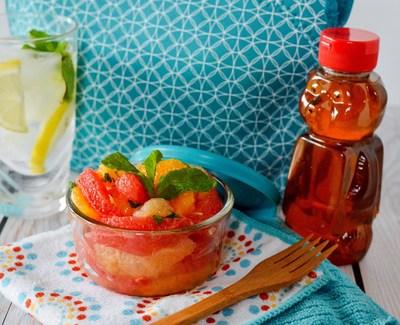 Coctel de Frutas Citricas con Almibar de Menta y Miel