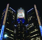 General Motors Renaissance Center building wrap by i.M. Branded (PRNewsFoto/i.M. Branded)