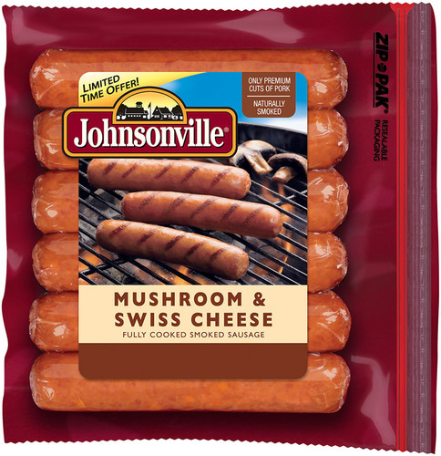 For 2013 Summer Grilling Season: Johnsonville Mushroom & Swiss Cheese Smoked-Cooked Sausage.  (PRNewsFoto/Johnsonville Sausage, LLC)