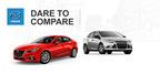 2014 Mazda3 vs. 2014 Ford Focus.  (PRNewsFoto/Matt Castrucci Mazda)
