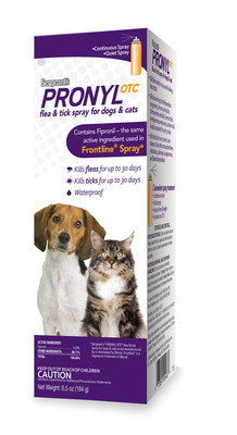 Sergeant's Pet Care Products, a leader in the pet supplies industry, announces the release of Sergeant's(R) Pronyl OTC(R) Flea and Tick Spray for Dogs and Cats, the only generic equivalent to Frontline(R) Spray currently available.