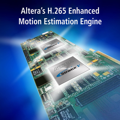 Altera H.265 video encoding solution combines company's FPGAs with software, to deliver industry-leading 4Kp60 performance with an up to 60% efficiency gain vs. x.264. (PRNewsFoto/Altera Corporation) (PRNewsFoto/ALTERA CORPORATION)