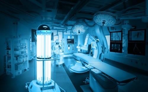 TRU-D SmartUVC disinfection robot travels to Liberia to tackle the Ebola virus (PRNewsFoto/TRU-D)