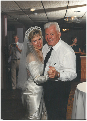 Barbara Mancini dancing at her wedding with her Dad Joe Yourshaw in 1994.  (PRNewsFoto/Compassion & Choices)