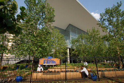 The Blue Bear Farm on the grounds of the Colorado Conventions Center.  Photo credit Stevie Crecelius (PRNewsFoto/VISIT DENVER, The Convention ...)