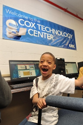 Boys & Girls Club members can use the Cox Technology Centers to assist with homework, research, job searches and college preparation.