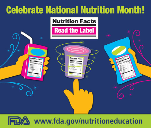 FDA Celebrates the 40th Anniversary of National Nutrition Month with Tips for Using the Nutrition