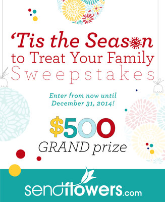 Send Flowers Launches the 'Tis the Season to Treat Your Family Sweepstakes