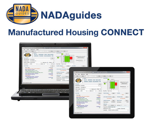 NADAguides NEW Manufactured Housing CONNECT online.  (PRNewsFoto/NADAguides)