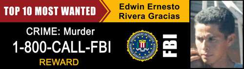 Image of digital billboard donated by advertisers to help the FBI capture the latest addition to the Ten Most Wanted List.  (PRNewsFoto/Outdoor Advertising Association of America (OAAA))