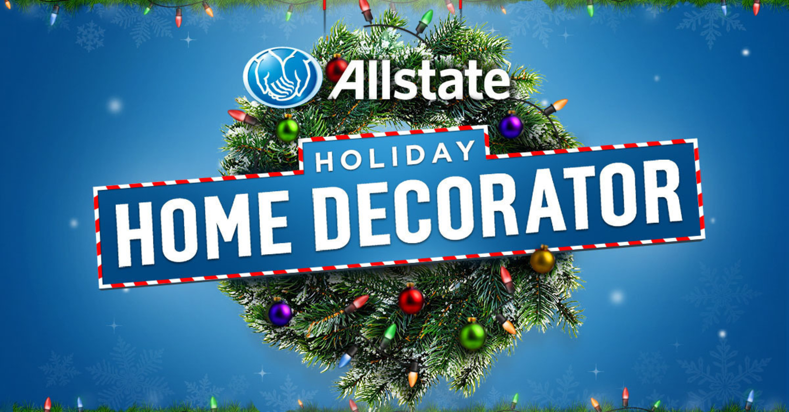 Avoid Mayhem this season with the Allstate Holiday Home Decorator. (PRNewsFoto/Allstate)