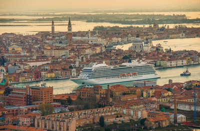 Viking Sea, the second ship from Viking Ocean Cruises, seen arriving in Venice, Italy. The 930-passenger ship is now on its maiden voyage and will be officially christened in London on May 5. Visit www.vikingoceancruises.com for more information.