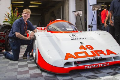 Three-time IMSA GTP Lights champion Parker Johnstone and his title-winning Comptech Spice Acura