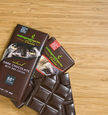10% of Net Profits Directly Support ESC Partners.  (PRNewsFoto/Endangered Species Chocolate)