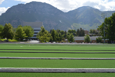 BYU Field During Installation.  (PRNewsFoto/AstroTurf)