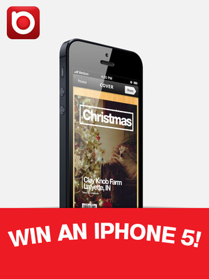 Download iPhone photo app beamr(TM) and share your magazine via Twitter for an opportunity to win an iPhone 5.  (PRNewsFoto/ICVT)