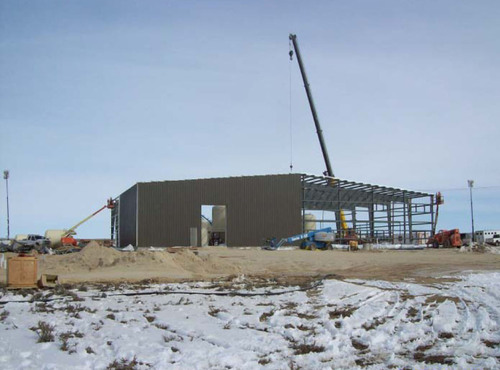 View of Lost Creek processing plant under construction from the south looking north. (PRNewsFoto/Ur-Energy ...