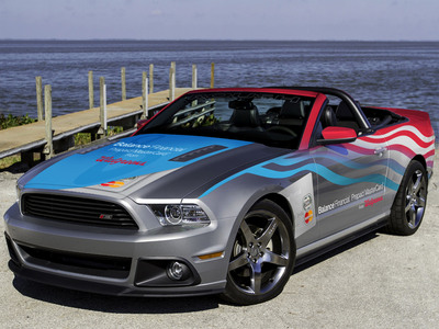 """The """"Race Around America"""" Interactive Promotion Presented by Balance Financial Prepaid MasterCard from Walgreens is fueled by fan interaction, and will end with a fan being awarded the fully enhanced ROUSH Stage 3 Mustang used in the promotion by Roush Fenway drivers. Throughout the promotion, Roush Fenway Racing will drive the Mustang from one race city to the next, making pit stops to meet fans along the way. Visit www.RaceAroundAmerica.com and join the conversation, #RaceAroundAmerica.  (PRNewsFoto/Walgreens)"""