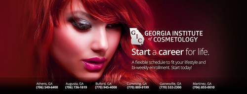 Start your career for life, today! Check out our newest Cumming, Georgia location and premier locations throughout Georgia! (PRNewsFoto/Georgia Institute of Cosmetology)