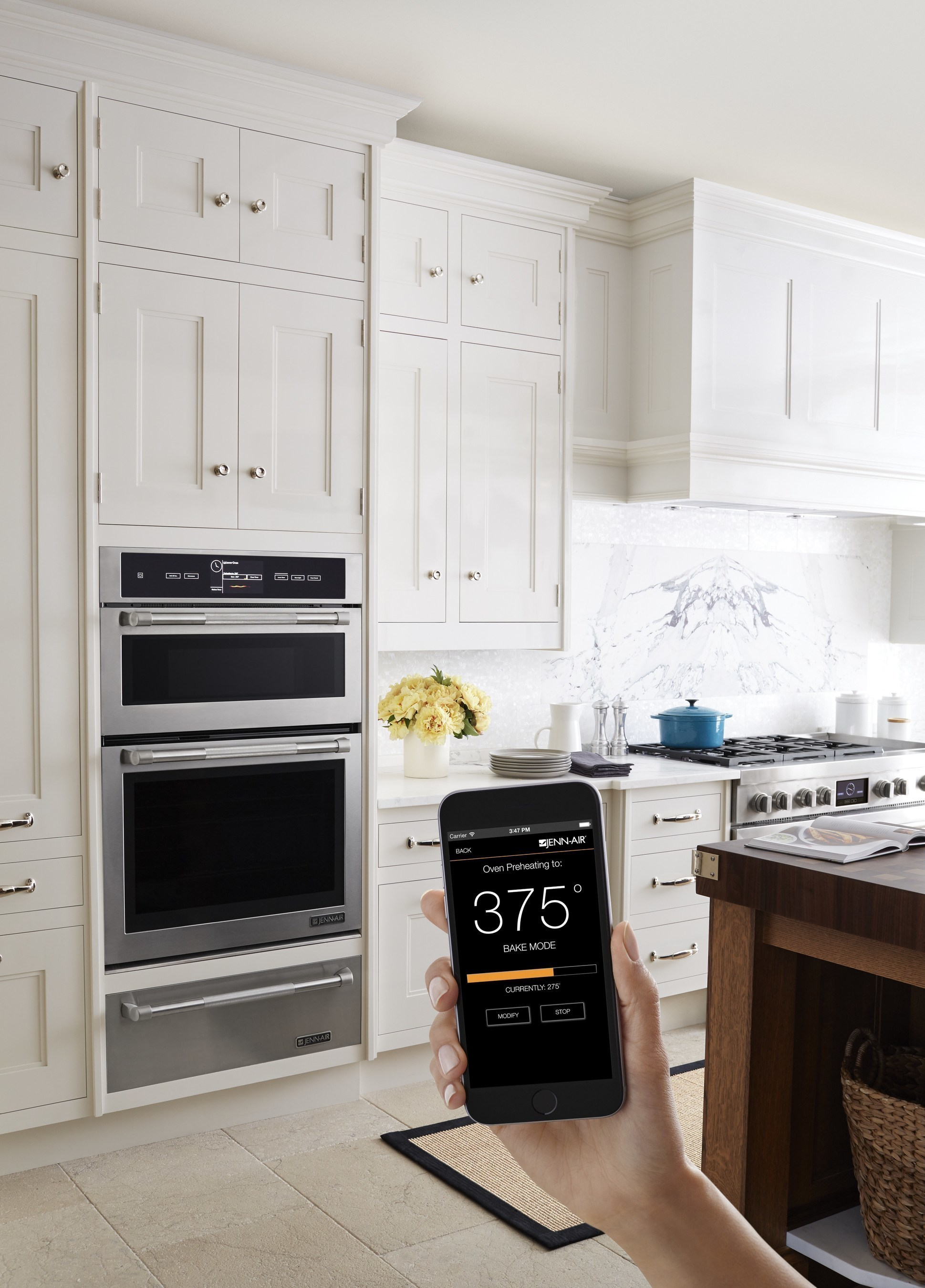 Jena-Air Connected Wall Oven with Nest integration