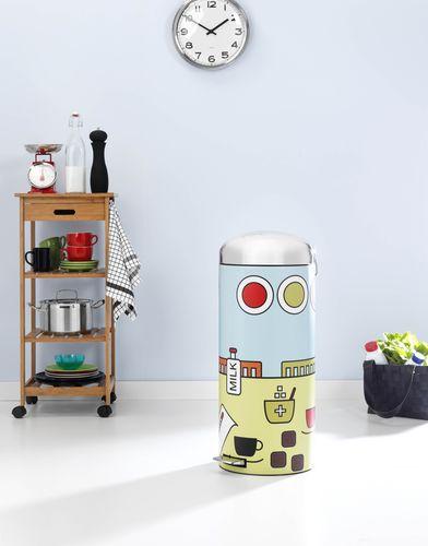 Pop Kitchen 30 litre Retro Bin (PRNewsFoto/Brabantia)