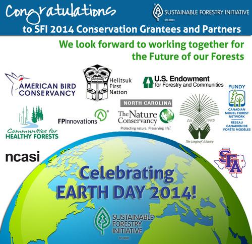 Congratulations to SFI 2014 Conservation Grantees and Partners  (PRNewsFoto/SFI Inc. )