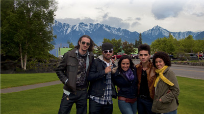 English Caption: Five modern day Latino pioneers start their journey in Alaska as they travel along the iconic Panamerican Highway as part of Levi's(R) Norte a Sur: Una Ruta, 5 Experiencias, a new TV series with an interactive website airing this Fall on Discovery en Espanol. Spanish Caption: Cinco jovenes estadounidenses latinos comienzan un viaje historico en Alaska antes de viajar por la Ruta Panamericana como parte de 'Norte a Sur, Una Ruta, 5 Experiencias' de Levi's (R), un nuevo programa de television con pagina web interactiva que saldra al aire en Discovery en Espanol este otono. (PRNewsFoto/Levi's)