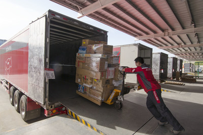 JD staff is loading large appliances.