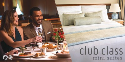Princess Cruises introduces Club Class Mini-Suites featuring VIP amenities and exclusive dining.