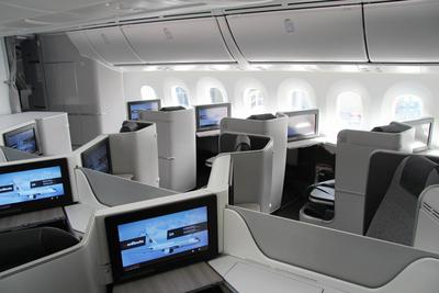 Air Canada's new International Business Class cabin on the 787 Dreamliner. (PRNewsFoto/Air Canada)