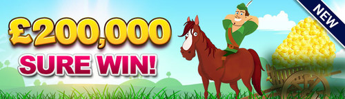 Get your tickets to the 200,000 GBP Sure Win jackpot game at Robin Hood Bingo today! If you're new to the site you can still claim your Welcome Bonus -- Play with 60 GBP for just 10 GBP! (PRNewsFoto/Robin Hood Bingo) (PRNewsFoto/Robin Hood Bingo)