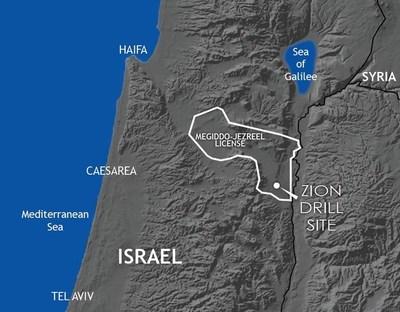Zion Oil & Gas License Area - 99,000 Acres