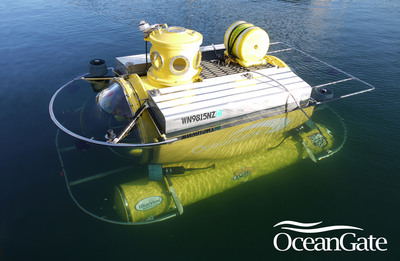 OceanGate's 5-person, manned submersible Antipodes, will take scientists and researchers on dives to further explore lionfish populations, beyond scuba diver depths during Expedition Lionfish.  (PRNewsFoto/OceanGate Inc.)