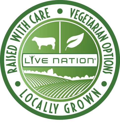 Live Nation to Serve Locally Grown Produce, Meat from Responsibly-Raised Animals and New Vegetarian