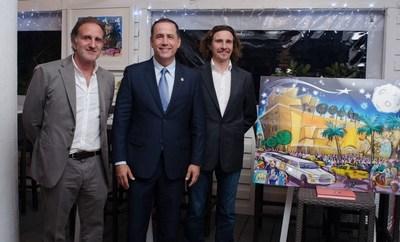 Bernard Markowicz, Mayor Philip Levine, Alain Godon