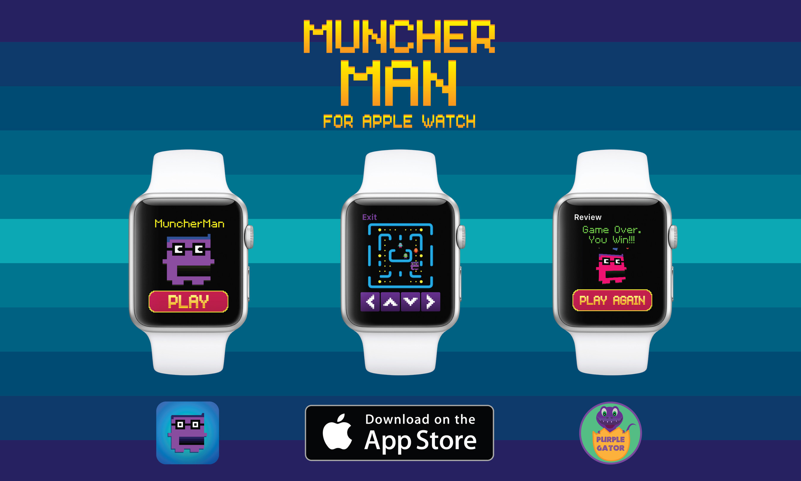 Purple Gator Launches MuncherMan For Apple Watch