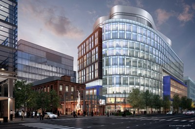 Rendering of The Alexandria Center at Kendall Square, 100 Binney Street; Courtesy of Alexandria Real Estate Equities, Inc.