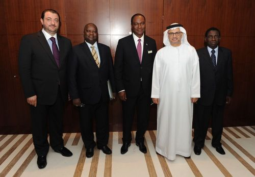 Sierra Leone's Minister of Foreign Affairs & International Cooperation and delegation paid a courtesy call on The Minister of State for Foreign Affairs in UAE (PRNewsFoto/Sierra Leone Foreign Ministry)