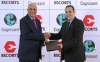 Escorts Partners With Cognizant to Digitally Transform its Businesses. Photo (from left): R. Chandrasekaran, Executive Vice Chairman, Cognizant India, and Nikhil Nanda, Managing Director of Escorts Limited.