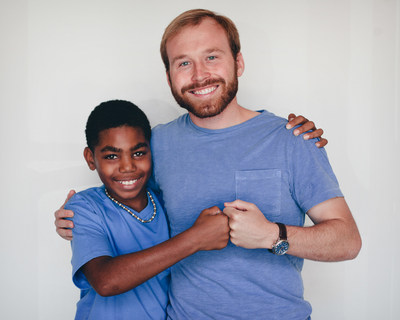 Pierce Bush, CEO of Big Brothers Big Sisters Lone Star, with Little Brother Jaylyn