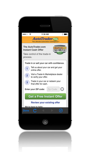 Consumers can now generate a Trade-In Marketplace Instant Cash Offer via their mobile phones through the ...