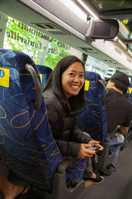 A new study reveals the use of personal electronic devices on city-to-city trips continues to rise sharply, none more than on low-cost express bus services like megabus.com. Rate of growth of electronic devices on city-to-city express bus services now significantly outpaces rail, conventional bus and air travel by a wide margin. https://bit.ly/1sCBfXB (PRNewsFoto/Megabus.com)